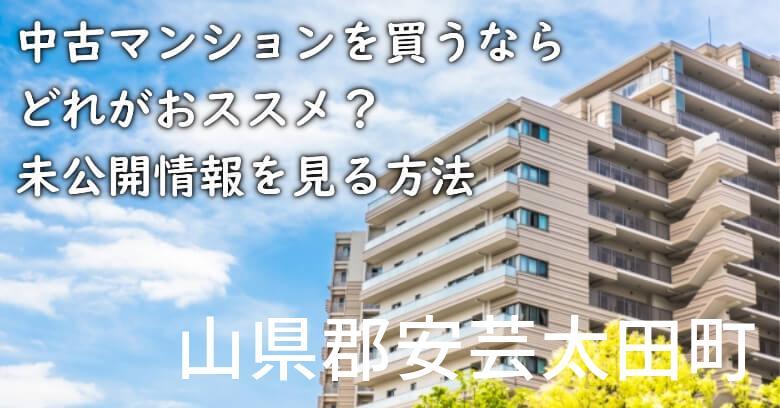 山県郡安芸太田町の中古マンションを買うならどれがおススメ?掘り出し物件の探し方や未公開情報を見る方法など