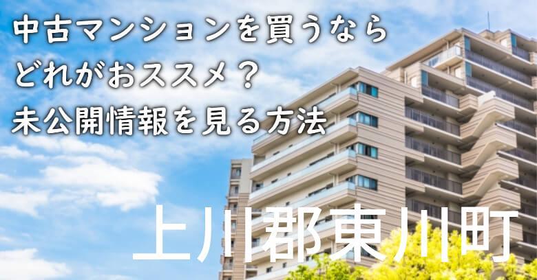 上川郡東川町の中古マンションを買うならどれがおススメ?掘り出し物件の探し方や未公開情報を見る方法など