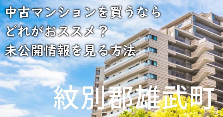 紋別郡雄武町の中古マンションを買うならどれがおススメ?掘り出し物件の探し方や未公開情報を見る方法など