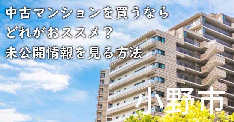 小野市の中古マンションを買うならどれがおススメ?掘り出し物件の探し方や未公開情報を見る方法など