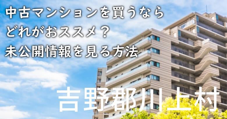 吉野郡川上村の中古マンションを買うならどれがおススメ?掘り出し物件の探し方や未公開情報を見る方法など
