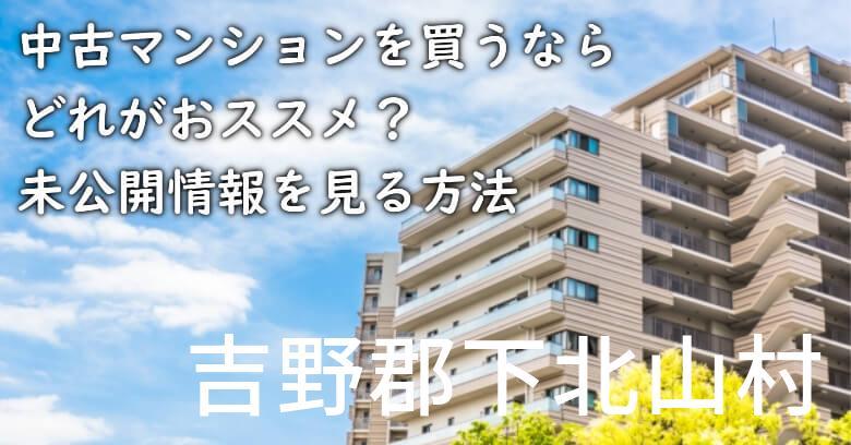 吉野郡下北山村の中古マンションを買うならどれがおススメ?掘り出し物件の探し方や未公開情報を見る方法など