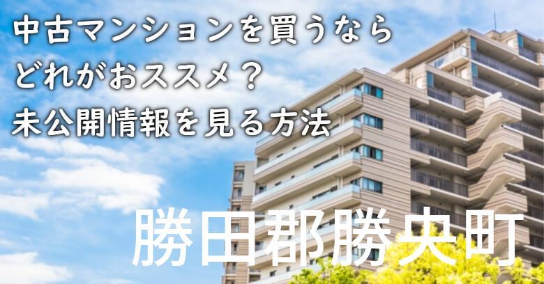 勝田郡勝央町の中古マンションを買うならどれがおススメ?掘り出し物件の探し方や未公開情報を見る方法など