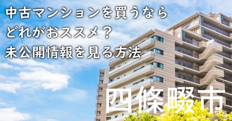 四條畷市の中古マンションを買うならどれがおススメ?掘り出し物件の探し方や未公開情報を見る方法など