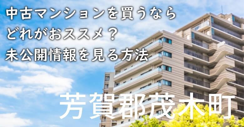 芳賀郡茂木町の中古マンションを買うならどれがおススメ?掘り出し物件の探し方や未公開情報を見る方法など