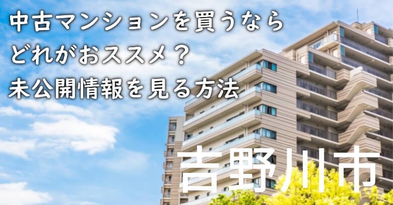 吉野川市の中古マンションを買うならどれがおススメ?掘り出し物件の探し方や未公開情報を見る方法など