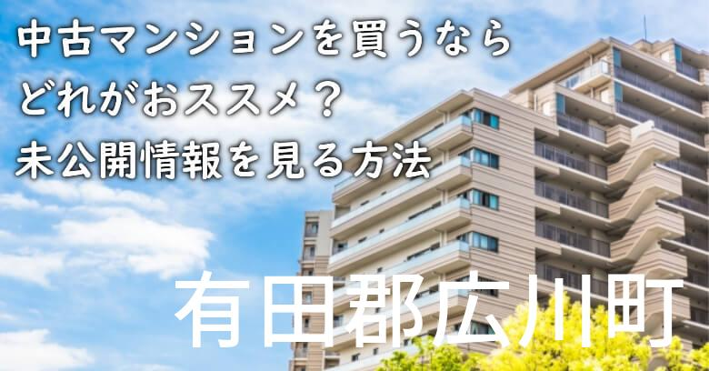 有田郡広川町の中古マンションを買うならどれがおススメ?掘り出し物件の探し方や未公開情報を見る方法など