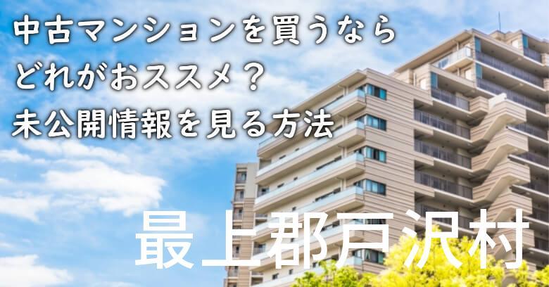 最上郡戸沢村の中古マンションを買うならどれがおススメ?掘り出し物件の探し方や未公開情報を見る方法など